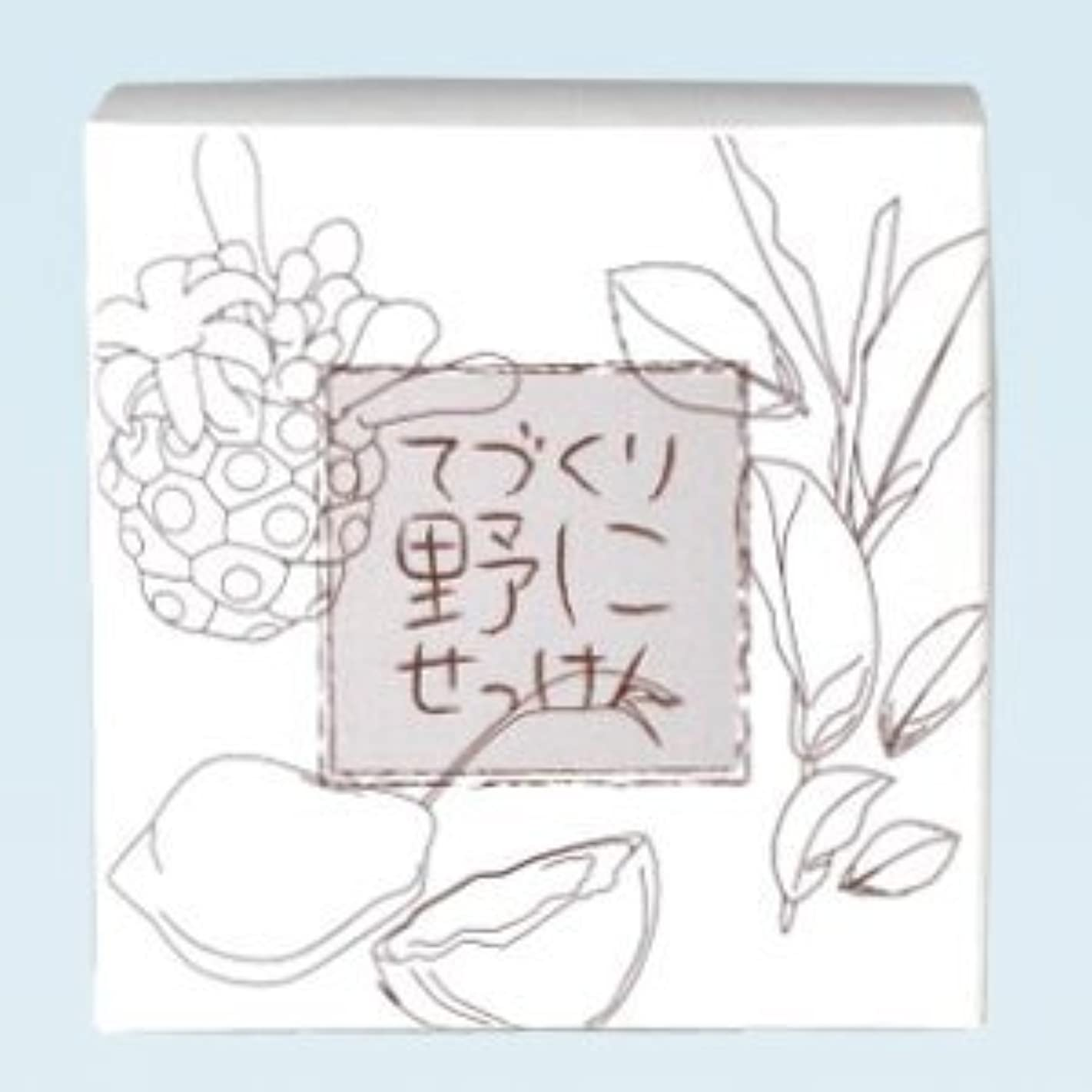 仲間、同僚オープナーウェイド緑茶 ノニ石鹸 てづくり野にせっけん(115g)