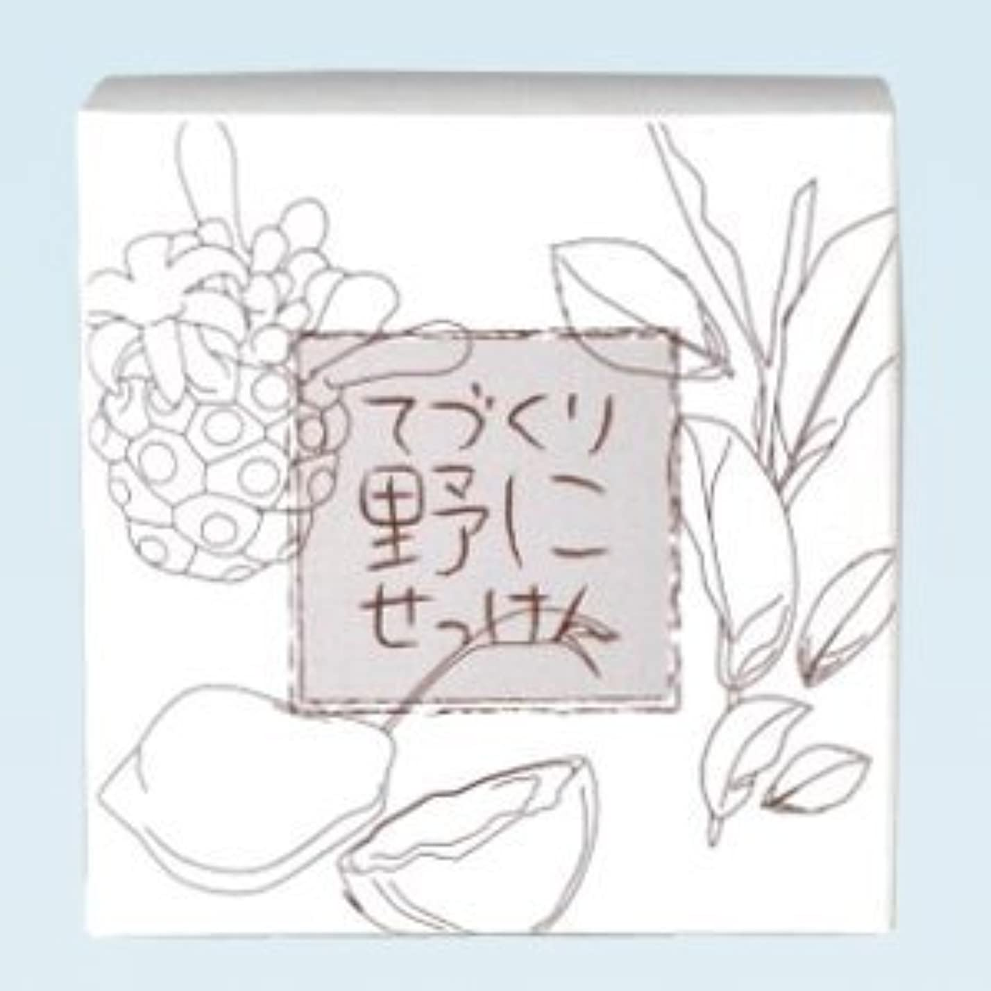 嫉妬ピークスペイン語緑茶 ノニ石鹸 てづくり野にせっけん(115g)