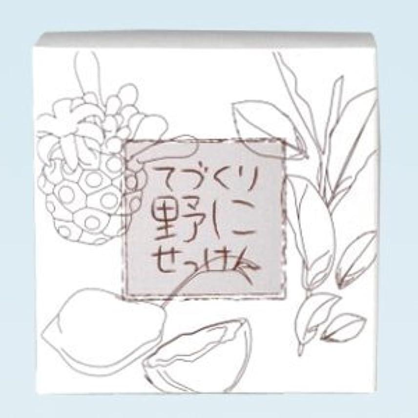 取るに足らない要求するセーター緑茶 ノニ石鹸 てづくり野にせっけん(115g)