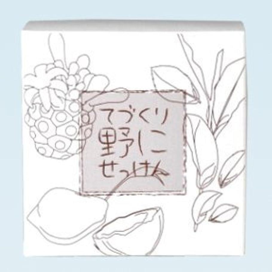 相対性理論悲観主義者実行緑茶 ノニ石鹸 てづくり野にせっけん(115g)
