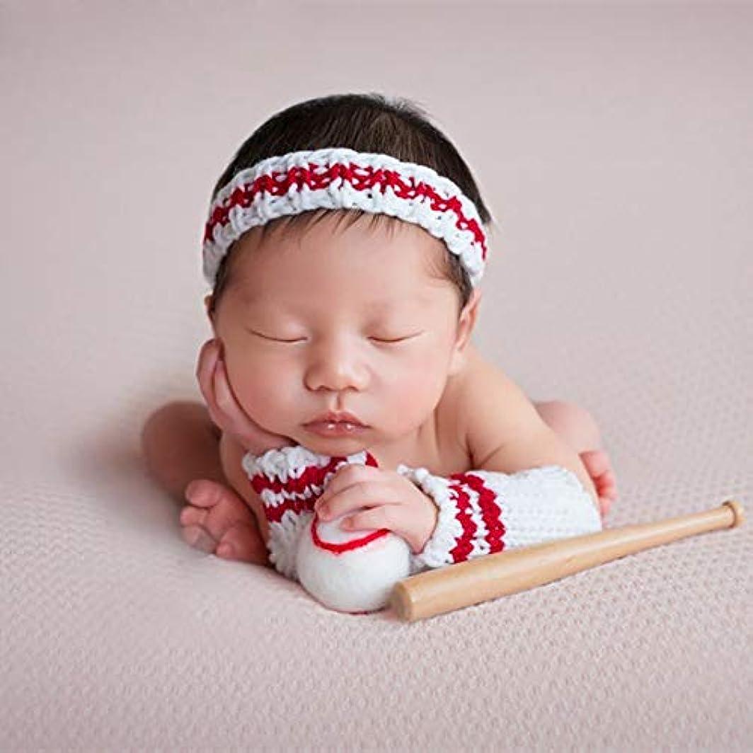 アーク捨てる振るJ-LAVIE 野球 着ぐるみ ベビー 男の子 ベースボール ベビーコスチューム 寝相アート 記念撮影写真 出産祝い 豪華的な4点セット