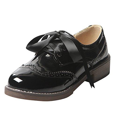 [해외]Charm Foot 여성 슈즈 라운드 투 레이스 업 플랫 슈즈 [2.5cm 힐]/Charm Foot Women`s Shoes Round Toe Lace Up Flat Shoes [2.5 cm heel]