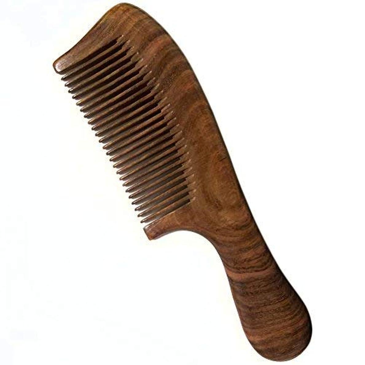 経済脚本家ばかげたWood Hair Comb/Large Wooden Comb/No Static Hair Comb/Real Wood Comb-Made of A Whole Piece of Green Sandalwood...