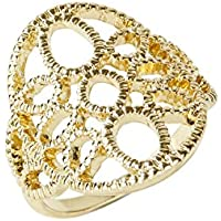 Amber Rose Floral Cut Out Ring
