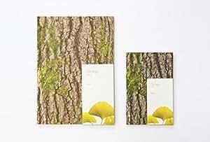樹木の手触りをリアルに表現したデザインノート 【Woodpecker Note】 (Ginkgo イチョウ) (無地) (Medium サイズ)