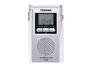 東芝 ワイドFM/AMラジオ(シルバー)シンセチューナーAM/FMラジオ TY-SPR3