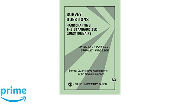amazon survey questions handcrafting the standardized