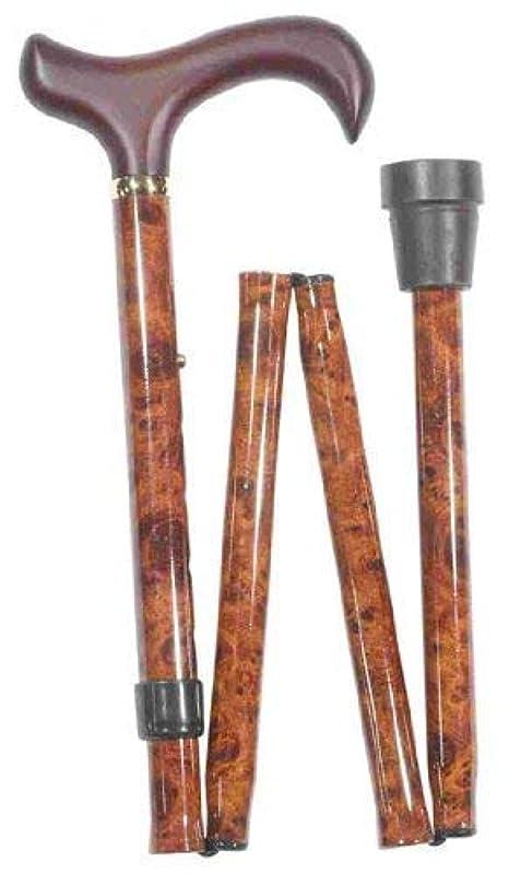 すごいメトロポリタン人類英国製折りたたみ伸縮杖超ロングブラウン4618