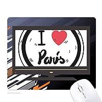 私はパリ言葉パターンが大好きです ノンスリップラバーマウスパッドはコンピュータゲームのオフィス
