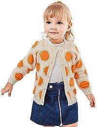 ベビー セーター 女の子 キッズ カーディガン オーガニックコットン 赤ちゃん 防寒 服 6M-5歳