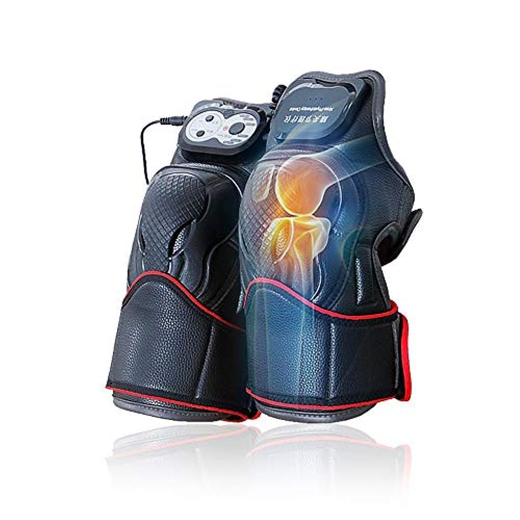水を飲むスパン警察マッサージ器 マッサージ ひざ マッサージャー ヒーター マッサージ機 振動 レッグマッサージャー 通気性 フットマッサージャー 赤外線療法 膝サポーター ストレス解消(二枚入り)