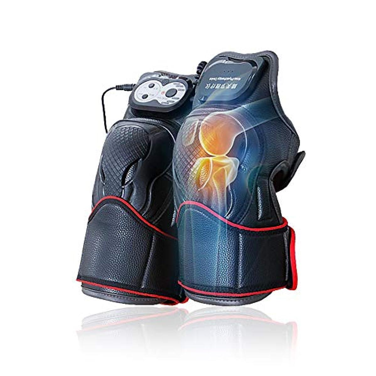 力強い抑制シロクママッサージ器 マッサージ ひざ マッサージャー ヒーター マッサージ機 振動 レッグマッサージャー 通気性 フットマッサージャー 赤外線療法 膝サポーター ストレス解消(二枚入り)