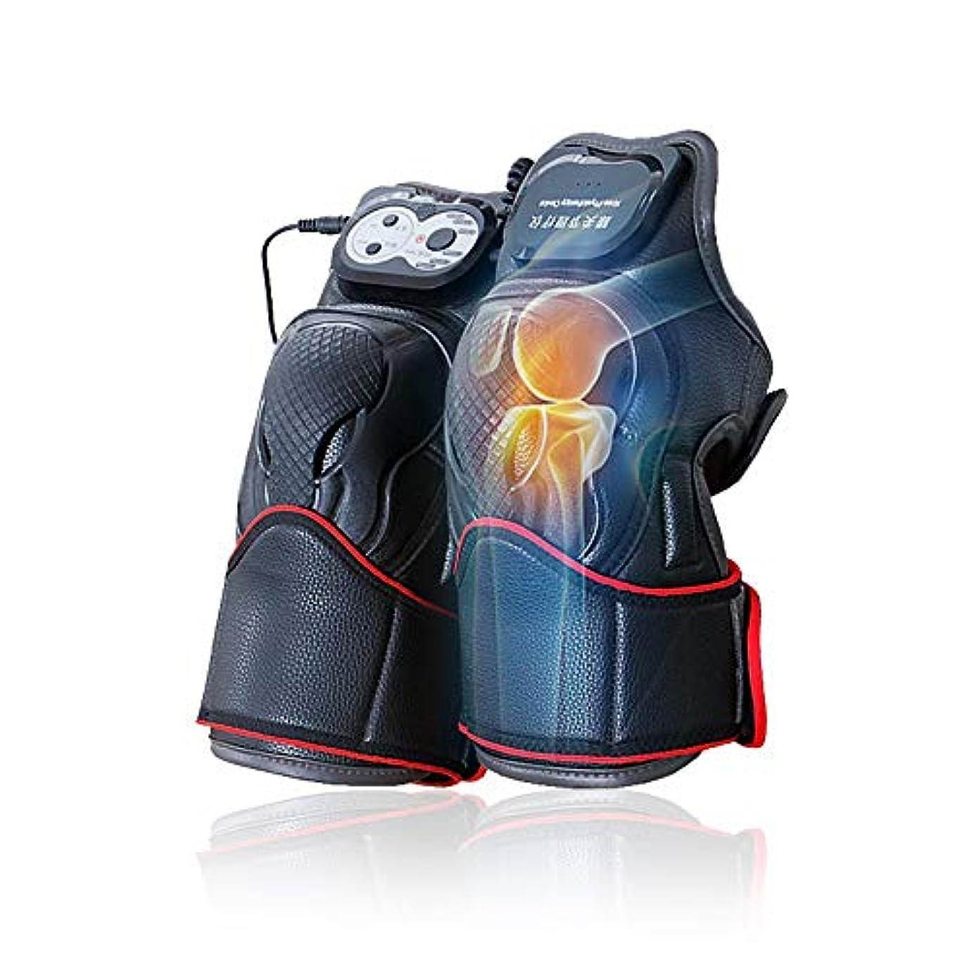 特別な計り知れないカラスマッサージ器 マッサージ ひざ マッサージャー ヒーター マッサージ機 振動 レッグマッサージャー 通気性 フットマッサージャー 赤外線療法 膝サポーター ストレス解消(二枚入り)