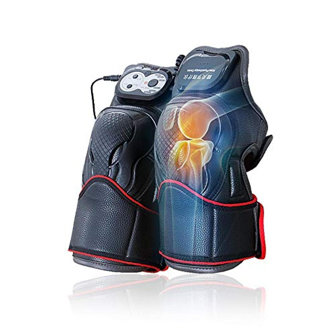 惑星編集する押し下げるマッサージ器 マッサージ ひざ マッサージャー ヒーター マッサージ機 振動 レッグマッサージャー 通気性 フットマッサージャー 赤外線療法 膝サポーター ストレス解消(二枚入り)