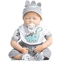 SanyDoll Rebornベビー人形ソフトSilicone 22インチ55 cm磁気Lovely Lifelike Cute Lovely Baby Sleepベビー