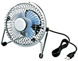 【2012年モデル】ELECOM USB扇風機 レトロ調スタンド付 シルバー FAN-U18NWH