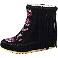 Zanpa Classic Fringe Ankle Women Boots Pull On
