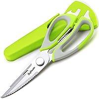 DigHealthキッチンハサミ 多機能キッチンはさみ 分解可能のハサミ はさみ ナイフ 皮むき 栓抜きピーラー マグネットケース付