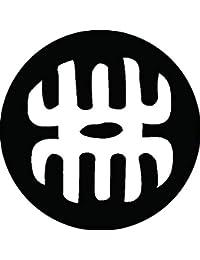 家紋シール 林の字紋 布タイプ 直径40mm 6枚セット NS4-3044