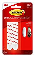 (24 Large Strips, White) - Command Mounting Refill Strips, Large, 24-Strip