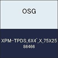 OSG テーパエンドミル XPM-TPDS_6X4゚_X_75X25 商品番号 86466