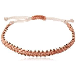 [ワカミ] Stars Bracelet - Peach/Copper スターブレスレット ピーチ/コパー WA0534-06