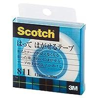 ==業務用セット== ・住友スリーエム・スコッチ-R-はってはがせるテープ・==小巻== 巻芯径25mm・811-1-12C・1巻入・-×10セット-