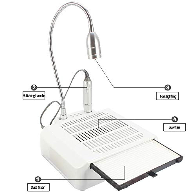 カストディアン電話に出る厄介な1 3ネイルマシン、ネイルファイルドリルネイル集塵機掃除機付き電気スタンド、多機能ネイルアート機器家庭用マニキュアツール