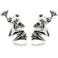 Sovats Frog Earrings For Women 925 Sterling Silver Rhodium Plated - Simple, Stylish Stud Earrings&Trendy Nickel Free Earring