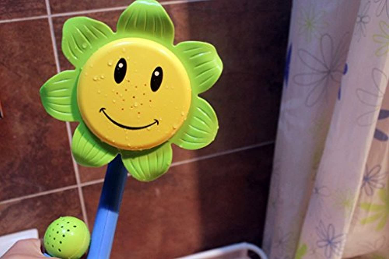 どこでもシャワー   噴水ボート お風呂おもちゃ ユーキッド 子供 キッズ 清潔に 抗菌加工 お風呂で遊べる グリーン