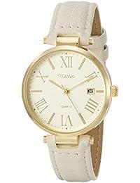 [フィールドワーク]Fieldwork 腕時計 ファッションウォッチ トード アナログ 革ベルト 日付表示 ホワイト ST161-1