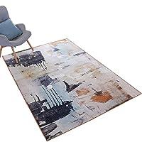 ノルディックレトロスタイルの古いインク塗装カーペット、ミックスとマッチリビングルームコーヒーテーブルベッドルームスタディアートカーペット (サイズ さいず : 140 * 200cm)