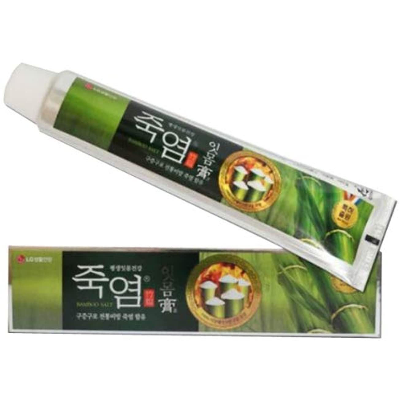 休み持続的カウントLG生活健康 竹塩歯磨き粉 (歯康膏:ウンガンゴ)(120g X2個) 竹塩歯磨き粉つぶれて歯茎を健康に ウンガンゴ