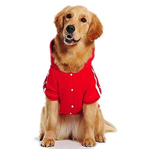 PETLESO 犬用パーカー 秋冬 ペット服 フード付き 犬服 ドッグウェア 中大型犬