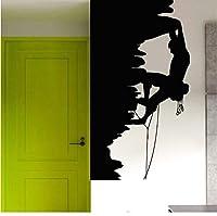 Lcymt ボーイロッククライマー壁デカール登山スポーツウォールステッカー家の装飾ジムスポーツウォールアート壁画ロックデカール31×57センチ