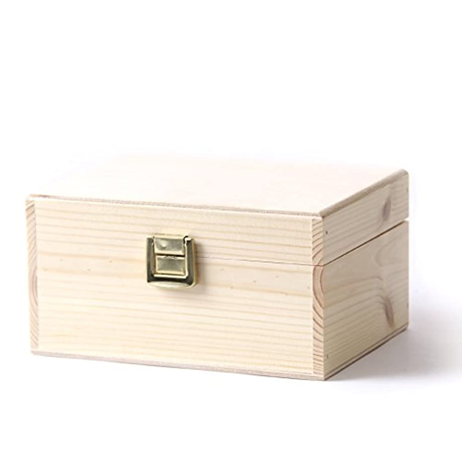 全能落ち着いて電話に出るWooden Aromatherapy Gift Box - (Empty But Can Hold 12 x 10ml Glass Bottles)