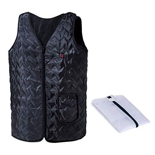 Vinmori 電熱ベスト USB充電 温度調整5段階 洗濯可 調整可能なサイズ ほっとベスト 電熱ジャケット ヒート...