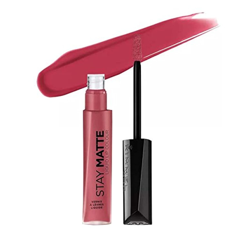 女王違う意図的(6 Pack) RIMMEL LONDON Stay Matte Liquid Lip Color - Pink Blink (並行輸入品)