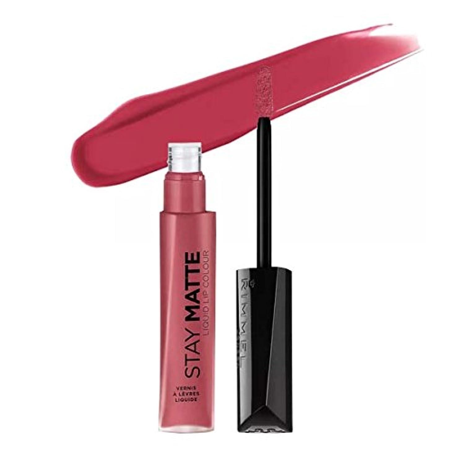 気楽なより多い振り返る(3 Pack) RIMMEL LONDON Stay Matte Liquid Lip Color - Pink Blink (並行輸入品)