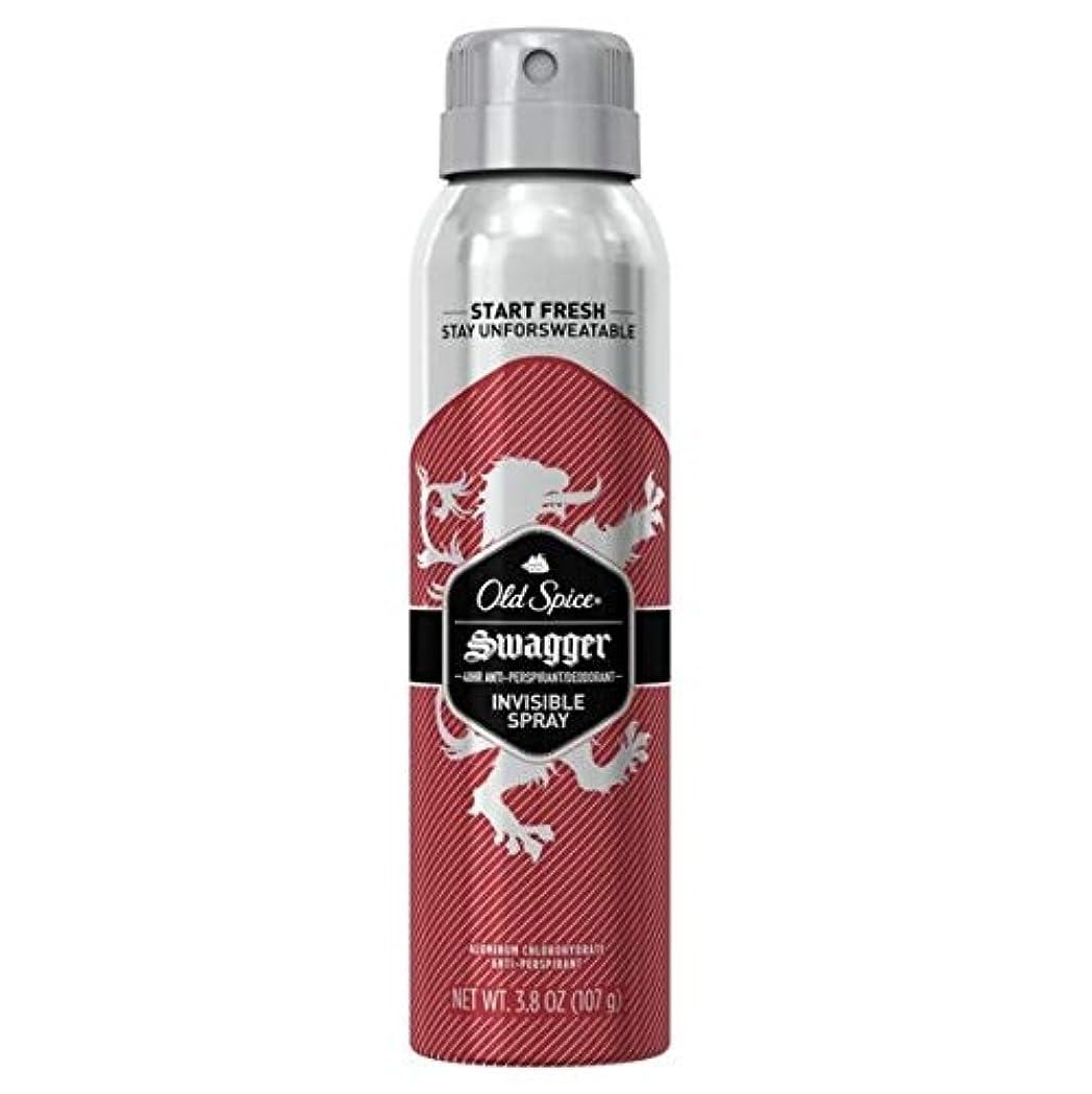 圧縮同行する熱望するOld Spice Swagger Invisible Spray Antiperspirant and Deodorant - 3.8oz オールドスパイス インビジブルスプレー スワッガー 107g [並行輸入品]