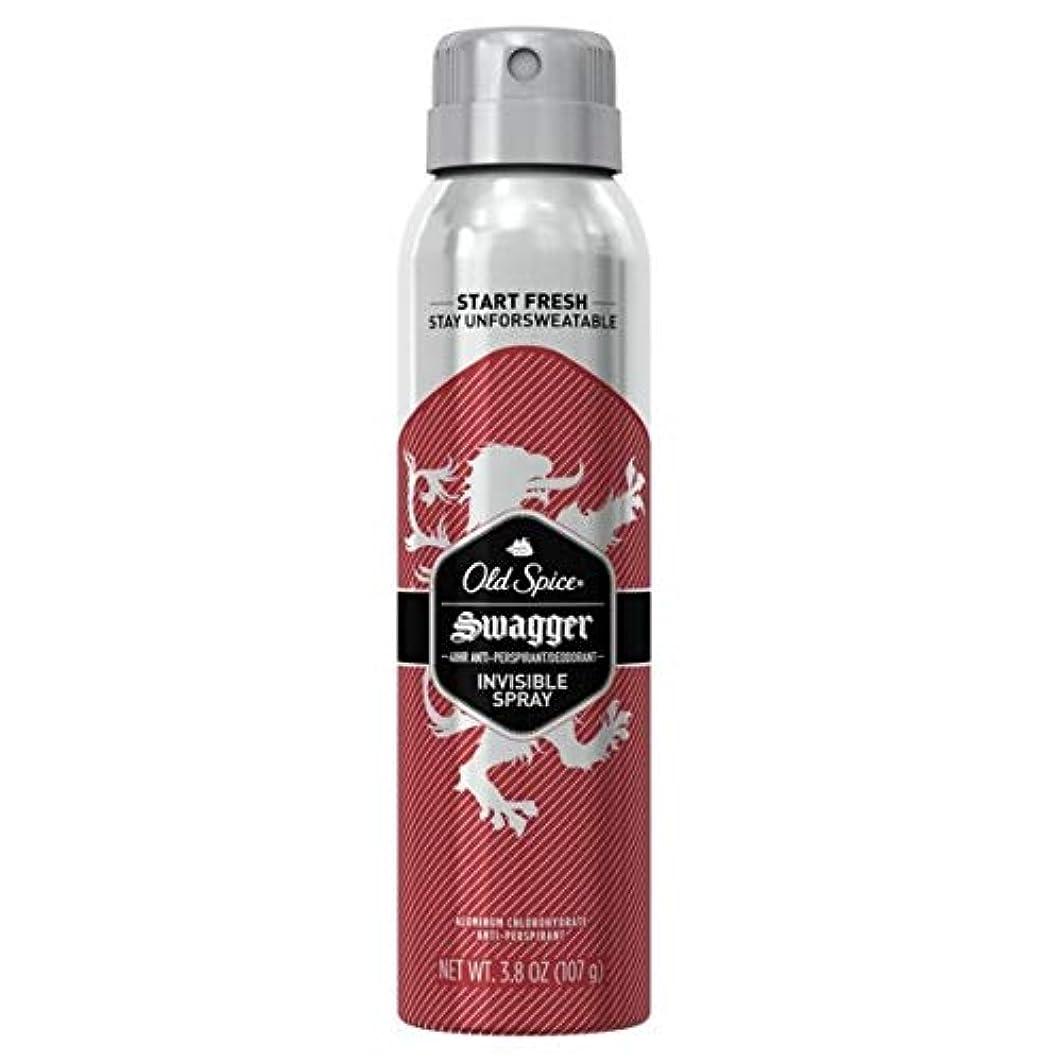 正当な明るいオペレーターOld Spice Swagger Invisible Spray Antiperspirant and Deodorant - 3.8oz オールドスパイス インビジブルスプレー スワッガー 107g [並行輸入品]
