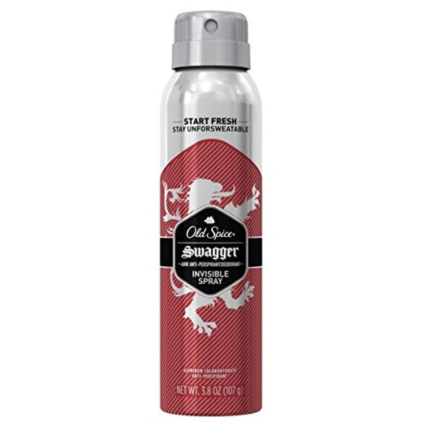 未知の伸ばすシエスタOld Spice Swagger Invisible Spray Antiperspirant and Deodorant - 3.8oz オールドスパイス インビジブルスプレー スワッガー 107g [並行輸入品]