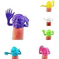 OVERMALおもちゃ6pcs動物Finger Puppet色面人形子赤ちゃん早期教育玩具ギフト