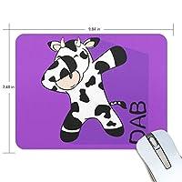 ユキオ(UKIO) マウスパッド おしゃれ 防水 滑り止め かわいい 使いやすい 北欧 Hippop ダンス 乳牛 女性 リストレスト マウス PCアクセサリ 男性