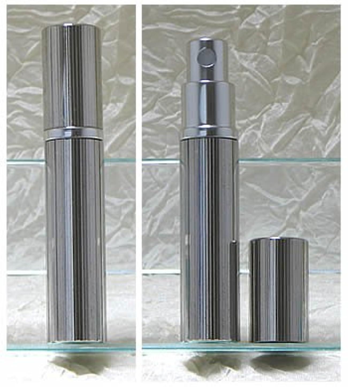 関数化合物手配するパースメタルアトマイザーハンドワーク 縦縞ダイヤカット ロジウム