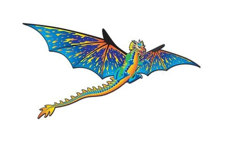 ScienceLAB Supersize 3 - DドラゴンNylon Kite w String : 76インチ翼幅