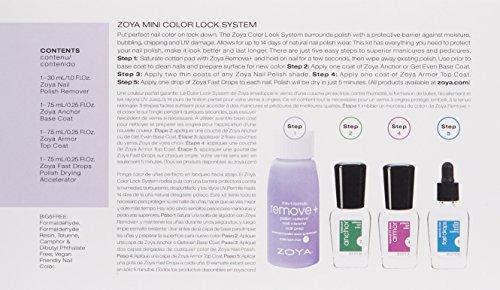ZOYA ゾーヤ ミニキュアキット ベース・トップ・速乾剤・除光液のキット