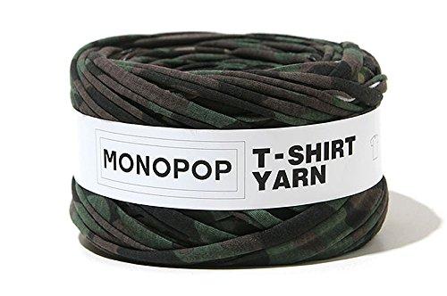 (エーケー) AK Style MONOPOP T-SHIRT YARN モノポップ Tシャツヤーン ハンドメイド ジャージー コットン 160720-1 (カモ)