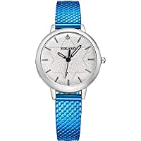 Women's Fashion Watch Quartz Casual Watch Other Band Analog Fashion Colorful Black/Blue / Silver - Blue Pink Rose Gold