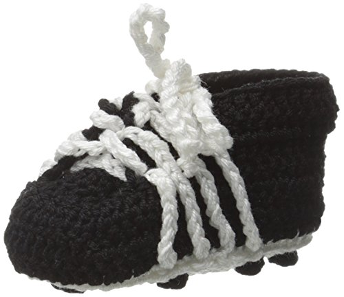 Jefferies Socks Baby-Boys Soccer Cleats Crochet Bootie, Black, Newborn
